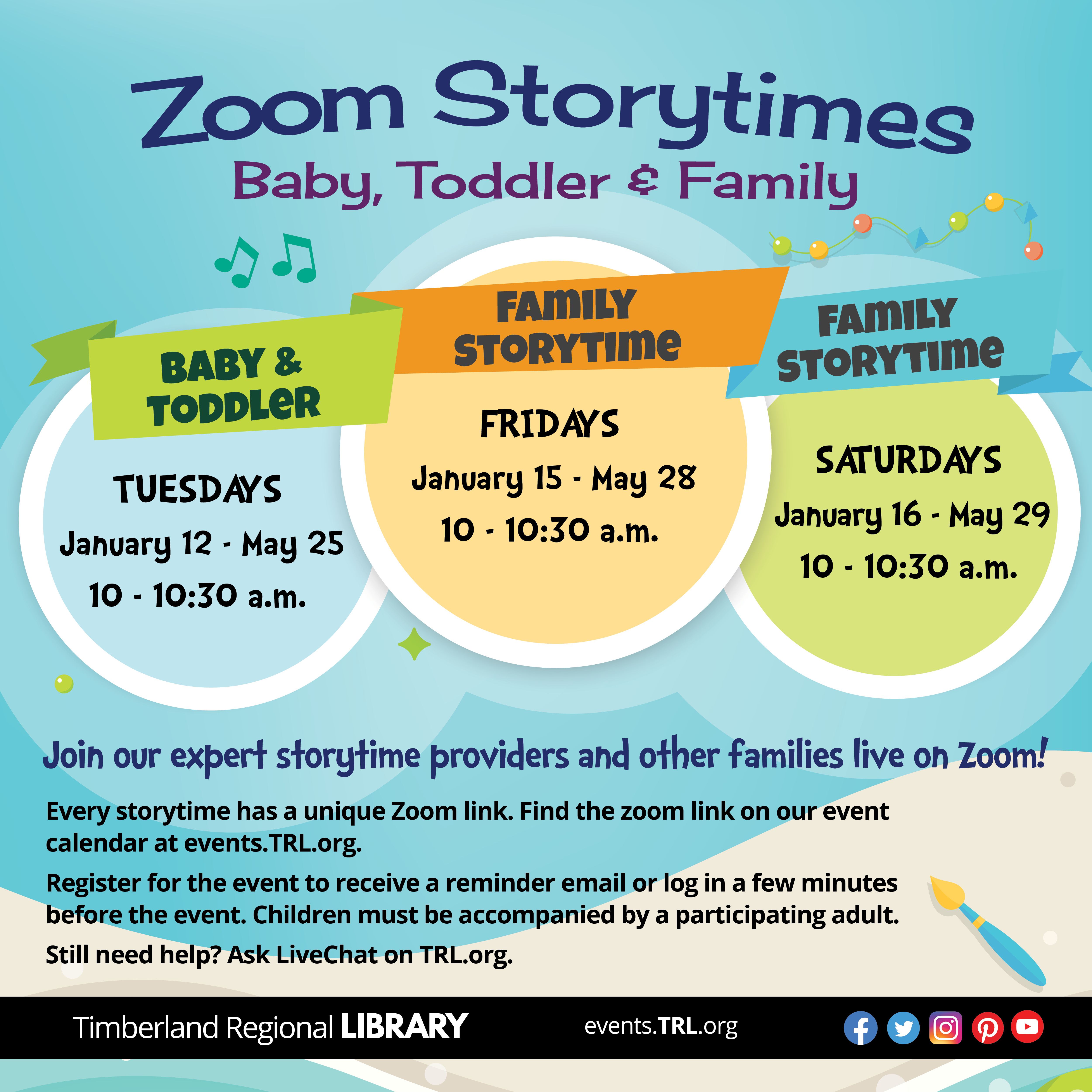 Zoom Storytimes Poster
