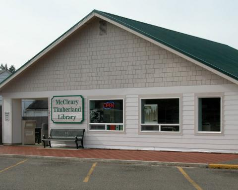 Exterior shot of the McCleary Timberland Library